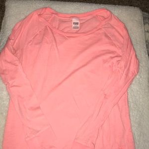 PINK Coral Oversized Long Sleeve